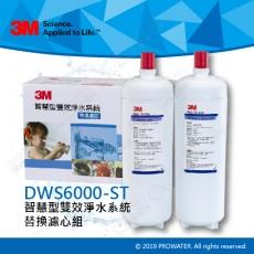《3M淨水器》 DWS6000-ST智慧型雙效淨水系統替換濾心組合(P-165BN+DWS6000-C-CN)