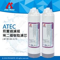 【水達人】ATEC 第二道樹脂濾芯/食品級樹脂濾心 2支(AF-TR-101-S)